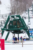 Ski Lift Loon Mountain, Lincoln, NH Royalty-vrije Stock Foto