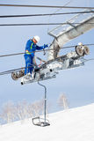 Ski Lift Maintenance Engineer Royalty Free Stock Images