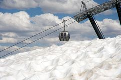 Ski lift in Mammoth Mountain Stock Images
