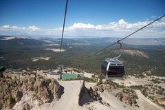 Ski lift in Mammoth Mountain Stock Photos