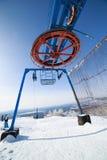 Ski lift mechanism Royalty Free Stock Image