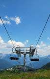 Ski Lift on Monte Zoncolan in Summer Royalty Free Stock Images