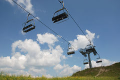 Ski Lift on Monte Zoncolan in Summer Royalty Free Stock Photo