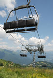 Ski Lift on Monte Zoncolan in Summer Stock Photos