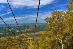 Ski lift. Mountain in the fall stock photos