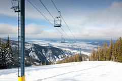 Ski Lift on Mountain Royalty Free Stock Photo
