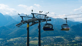 Ski Lift on Mountain Landscape. In summer Stock Photography