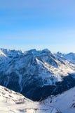 Ski lift in mountains Royalty Free Stock Photos