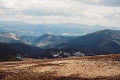 Ski lift in the mountains. Dragobrat. Ski lift in the mountains Stock Photography