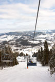 Ski Lift in the mountains Royalty Free Stock Photography