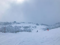 Ski-lift in Niseko Ski Resort, Hokkaido. Stock Images