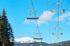 Ski lift with nobody Royalty Free Stock Photo