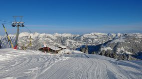 Free Ski Lift On The Wispile Stock Photo - 49027510