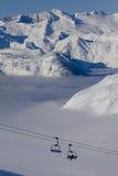Ski lift. In one of the biggest ski resorts in Spain Stock Photo