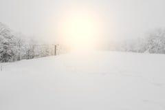 Ski lift over snow mountain in ski resort . Stock Photography