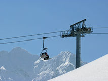 On a ski lift Royalty Free Stock Photography