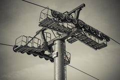 Ski lift pillar Stock Images