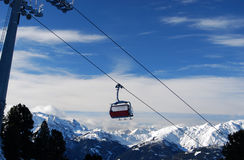 Ski lift resort austria zillertal Stock Images