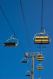 Ski Lift Ride Stock Photo