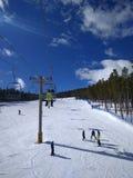 On a ski lift Royalty Free Stock Image