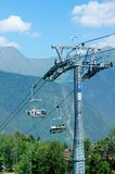 Ski Lift in Roza Khutor Royalty Free Stock Images
