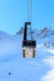 Ski  lift Saulire.  Ski Resort Courchevel wintertime Royalty Free Stock Photography