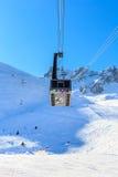 Ski  lift Saulire.  Ski Resort Courchevel wintertime Royalty Free Stock Images