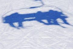 Ski lift shadow on the snow Royalty Free Stock Photo