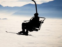 Ski lift Royalty Free Stock Photo