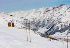 Ski lift.  Ski resort Livigno Stock Images