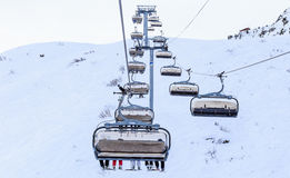 Ski lift.  Ski resort Meribel Stock Photos
