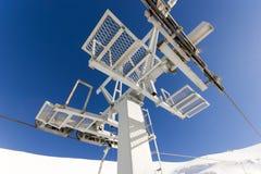 Ski lift on ski resort Royalty Free Stock Image