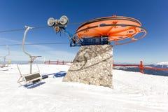 Ski lift on ski resort Stock Photography
