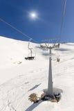 Ski lift on ski resort Stock Image