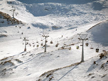 Ski lift on ski resort Royalty Free Stock Photos