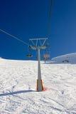 Ski lift on ski resort Stock Images