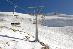 Ski lift on ski resort Royalty Free Stock Photography