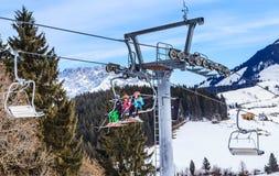 Ski lift. Ski resort Soll, Tyrol Royalty Free Stock Photo