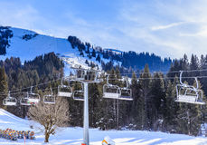 Ski lift. Ski resort Soll, Tyrol Royalty Free Stock Photography