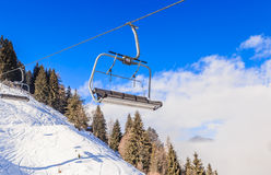 Ski lift. Ski resort Soll, Tyrol Royalty Free Stock Photography