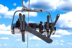 Ski-lift royalty free stock photography