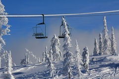 Ski Lift and Snowghosts Royalty Free Stock Images