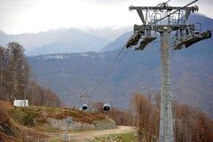 Ski lift in Sochi Krasnaya Polyana, Sochi Royalty Free Stock Photography