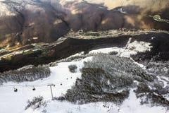 Ski lift in Sochi Krasnaya Polyana Stock Photography