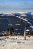 Ski lift in Spindleruv Mlyn Royalty Free Stock Photo