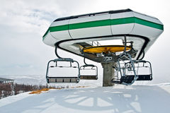 Ski lift station Stock Photography
