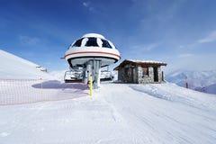 Ski lift station Royalty Free Stock Photography