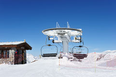 Ski lift station Royalty Free Stock Photo