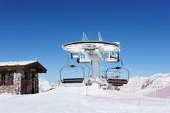 Ski lift station Royalty Free Stock Photo