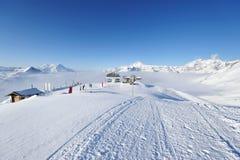 Ski lift station Stock Photos